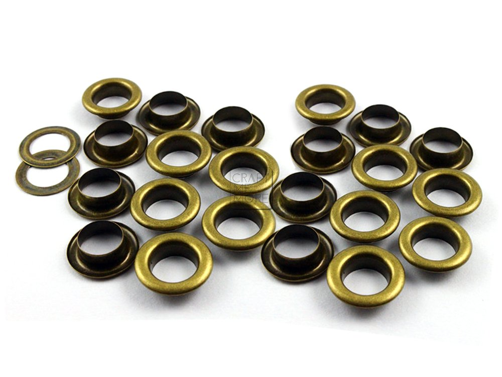 Tarp for European Style Polymer Clay Beads CRAFTMEmore Hexagon 5MM Hole Grommets Eyelets Studs Clothes Canvas Gold 100 pcs