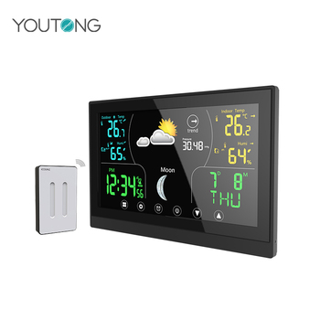 YT60181 Digital Color LCD Display Wireless Forecast Weather Station with Touch