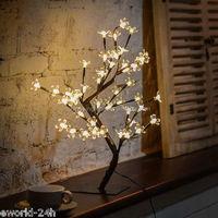 48LEDs Cherry Blossom Desk Top Bonsai Tree Light Decorative Warm White Light Perfect for Home Festival Party