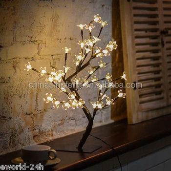 48leds Cherry Blossom Desk Top Bonsai Tree Light Decorative Warm White Perfect For Home Festival