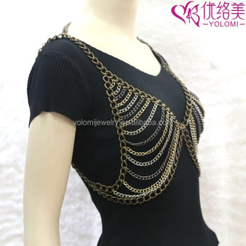 fashion color harness womens chain necklace jewelry gold product detail waist bikini sexy body belly multilayer