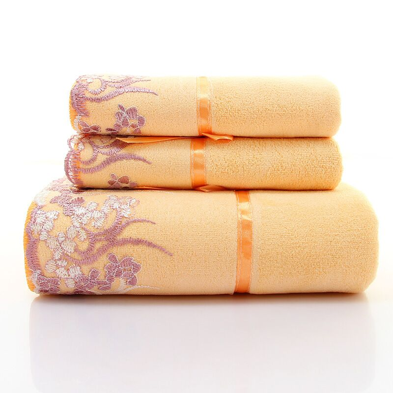 Factory wholesale polyester fabric extra large soft washcloth set
