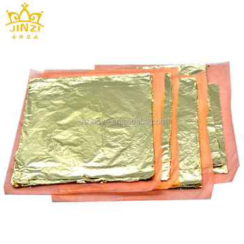 16 x 16 cm Italian imitation gold leaf Sheets for Gliding Furniture and Picture Frame