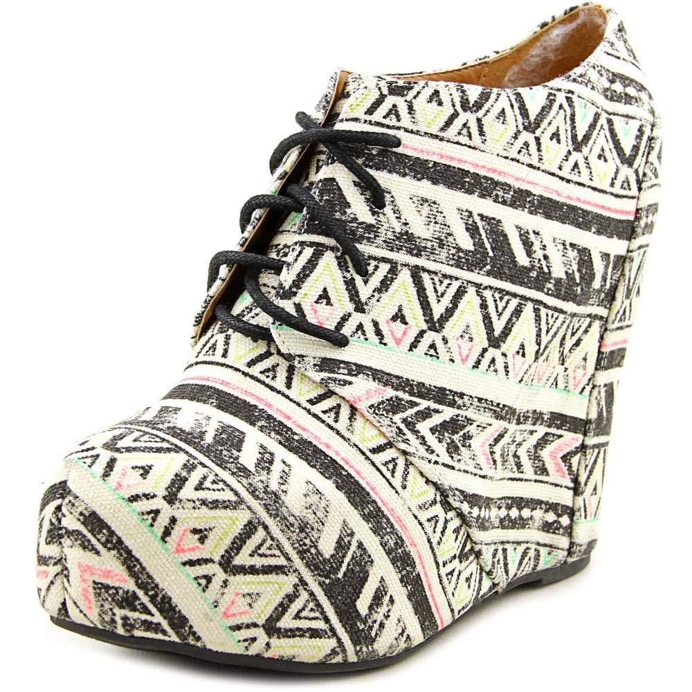 7d625631f1e Get Quotations · Shï by Journeys Womens Canvas Closed Toe Wedge Pumps