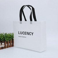 High quality logo printing customized reusable tote shopping non woven bag for promotion