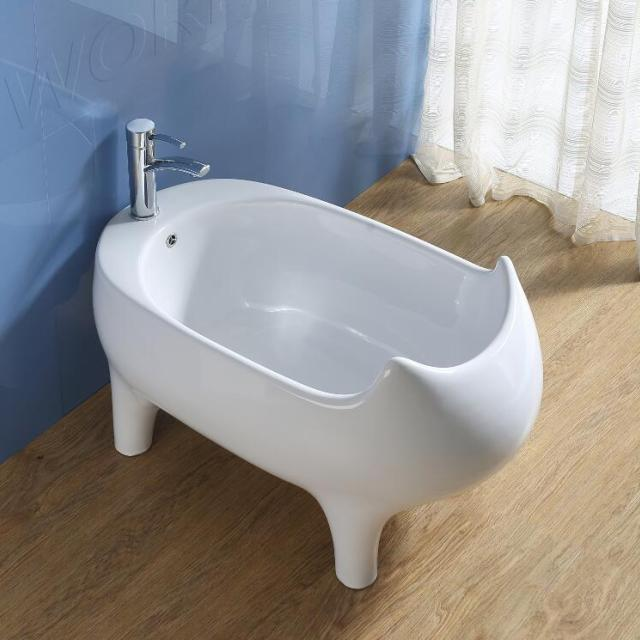 Ceeport Bathroom Egg Shaped Shallow Bathtubs Ceramic Baby Bath Tub