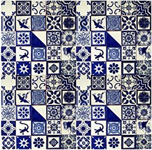 Get Quotations 25 Hand Painted Talavera Mexican Tiles 4 X4 Blue