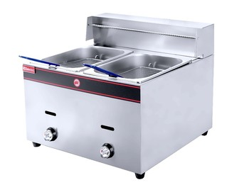 2-Tank 2-Basket Gas Fryer