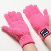 Bluetooth Gloves Works with Any BT Enabled Device Touchscreen with Conductive Fingertips