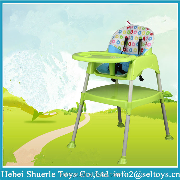 High Baby Chair Eating Study Multi Function Children Dining Table And Plastic Top