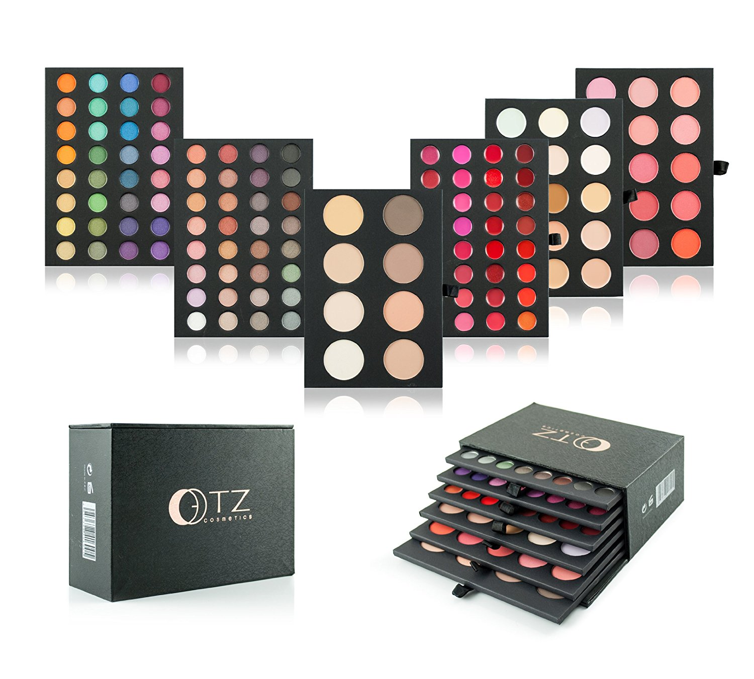 Buy 6 Colors Glossy Eyeshadow Combo Silky Powder Norms Makeup 8 In