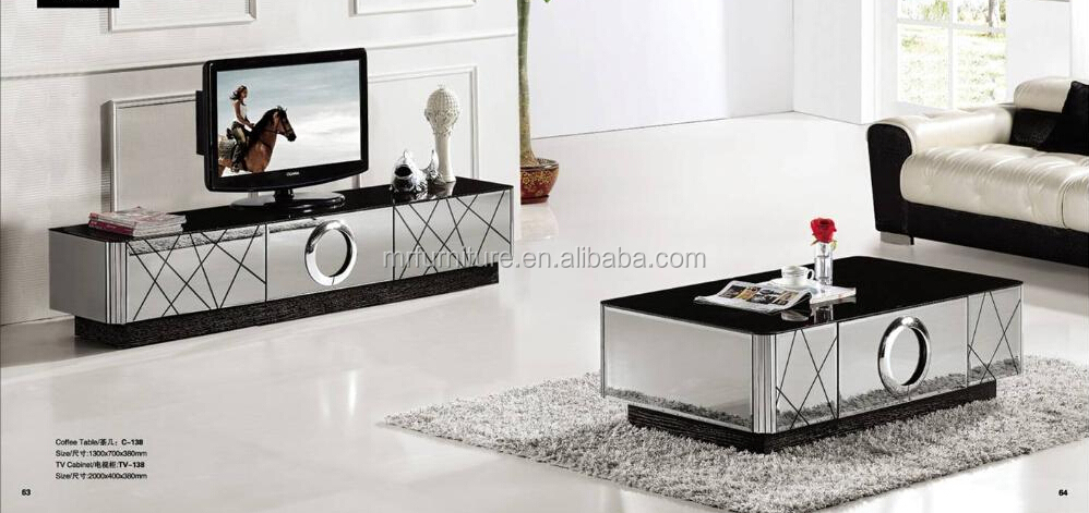 Modern Black And Silver Mirrored Tv Stand Buy Unique Mirrored Tv