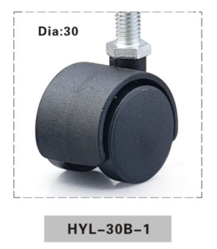 Nylon Alloy Chair Casters And Plastic Caster Wheel For Chair Parts