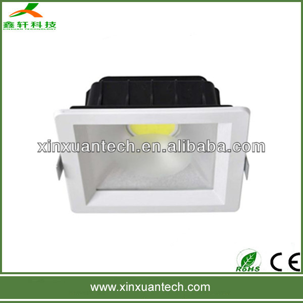 cob recessed square down light led 12w