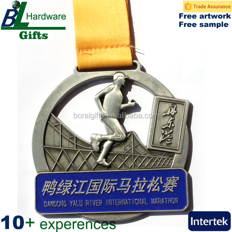 3D zinc alloy casted cross-Rally medals