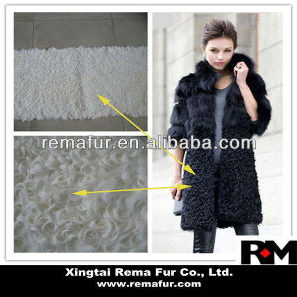 100% real Kalgan lamb skin plates for clothes in winter