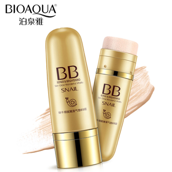 Bioaqua Brand Snail Mucus Essence Air Cushion Bb Cream Liquid Concealer Foundation Makeup Whitening Nude Skin Face Base Make Up Buy Air Cushion Bb