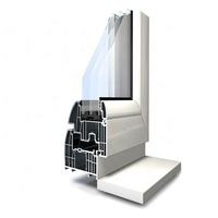 Nigeria low price powder coating aluminum sliding and casement window profiles