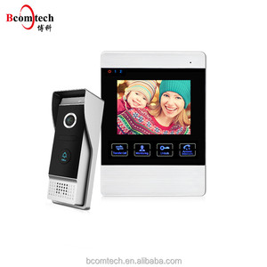Bcomtech Color Video Door Phone 4 Wires Video Intercom System with 4 Inch Monitor