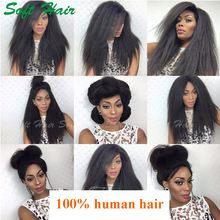 Fashion Side Part Lace Front Wigs, Cheap African American Human Hair Lace Front Wigs For Black Women, Afro Wigs Human Hair