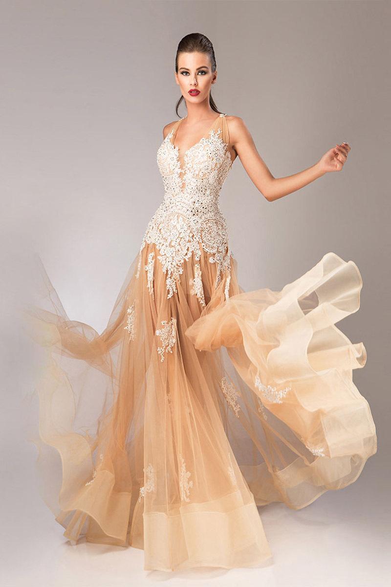 Turmec Ombre Prom Dresses Long
