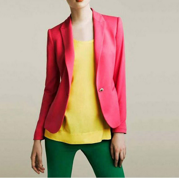 W70795G European style color combination women office suits for women sexy business suits with a buckle