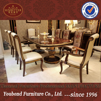 Attrayant 0063 Classic Solid Wood Dining Room Sets, Good Quality Italian Style Dining  Table And Chair