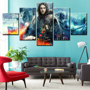 5 Panel Wall Art of Famous Movie Painting Pictures Canvas The Picture For The Home Modern Decoration Unframed