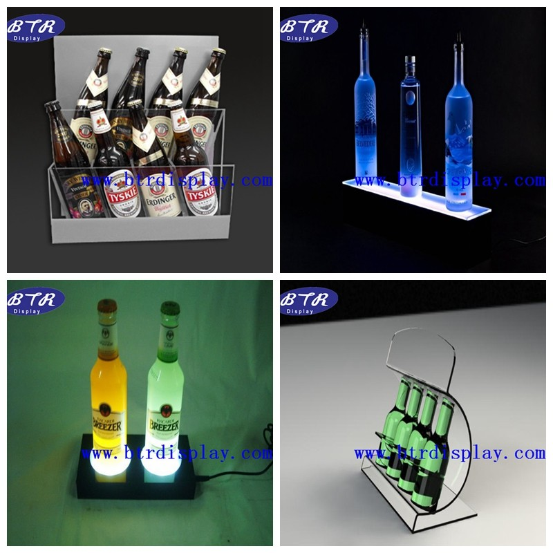 custom acrylic organic glass wine glass display cabinet factory