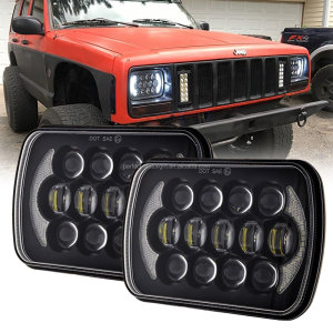 High Low Beam 5X7 7X6 Led Headlights Projector XJ YJ Cherokee Truck Jeep Led Headlights