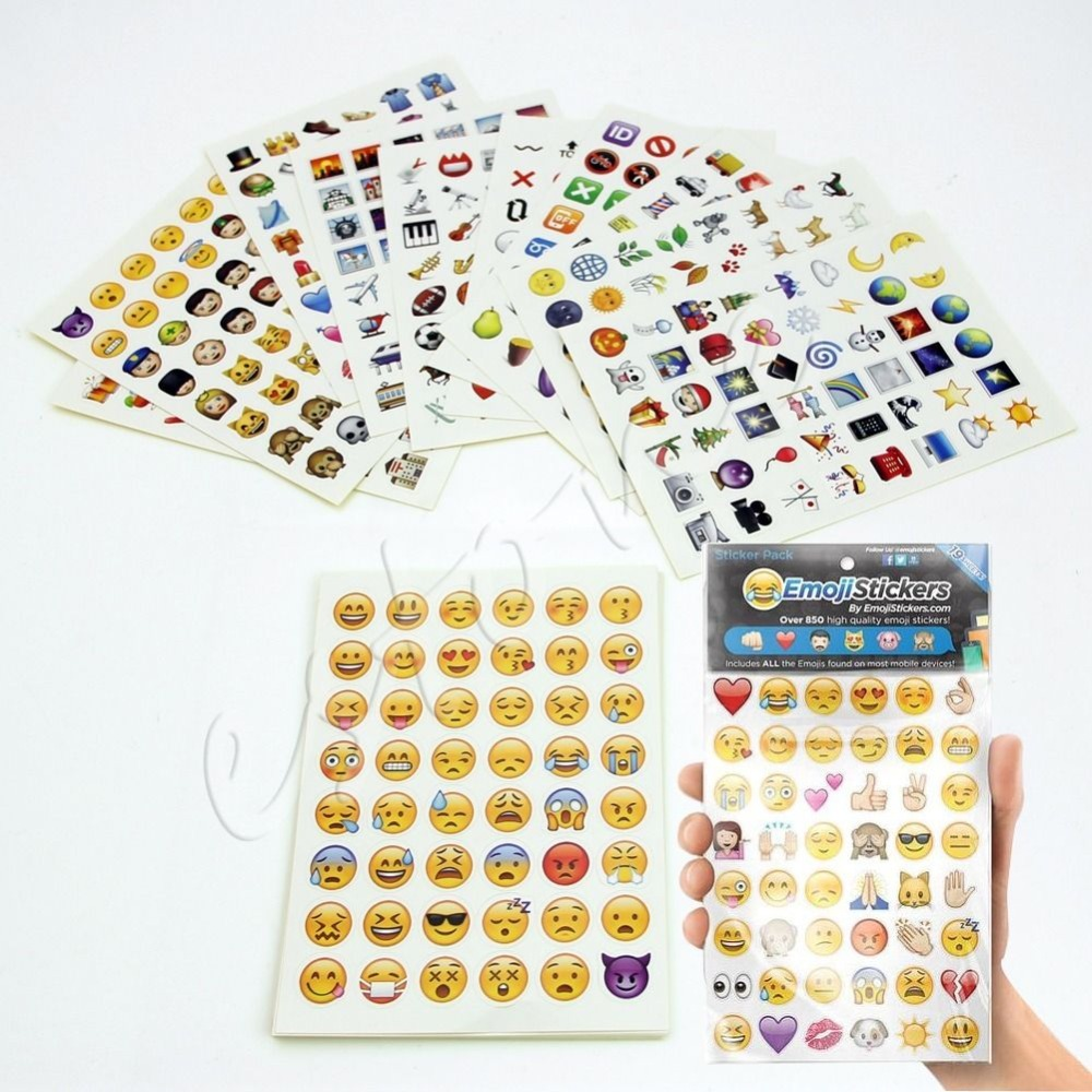 Emoji Sticker Pack 912 Emoji Stickers Most Popular Emojis For Mobile Phone Kids Rooms Home Decor