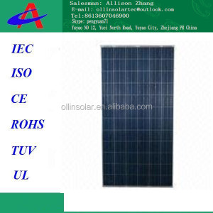 Mono Crystalline 300W High-efficiency Solar Panel with Aluminum Frame and 72 Pieces of Cells