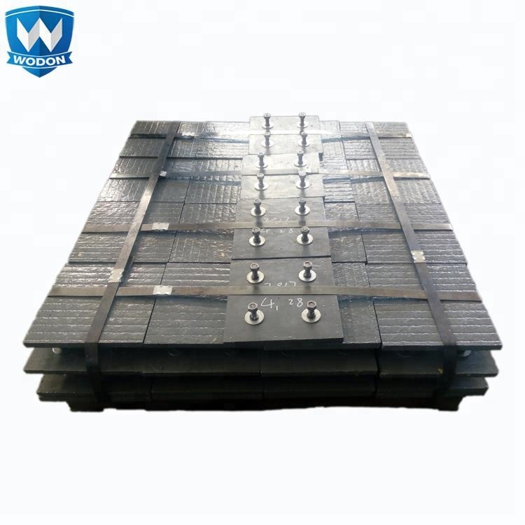 WODON manufactured wear resistant liner for Steel factory equipment