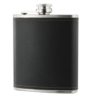Amazon Wholesale Cheap Customized Leather Stainless Steel Pocket Hip Flask, Engraved Hip Flask