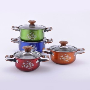 Home & Garden colorful Cookware Stainless Steel Cooking Pots With Single Bottom