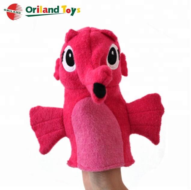 Дешевые мини Рождество Санта Клаус Мягкие Плюшевые палец руки куклы игрушка