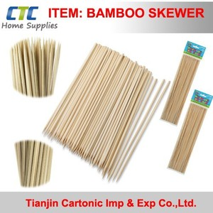 Disposable Bamboo Skewer For BBQ With Mill Direct Price