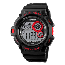 plastic skmei digital student sport color changing dial watch