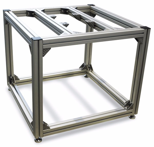 Andozied extrusion modular aluminium frame and t slot aluminum profiles work table