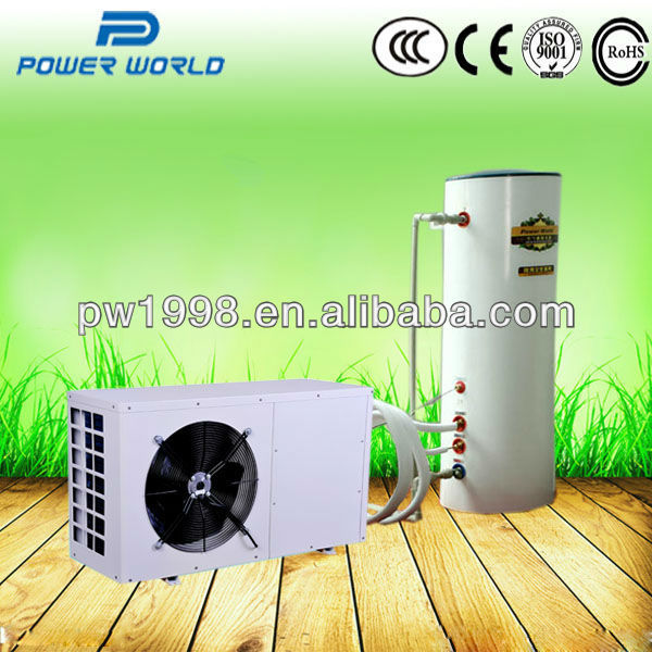 domestic heat pump water heater for heating and hot water household and commercial