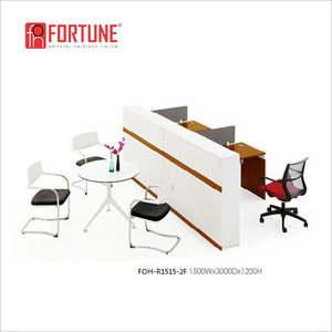 Modular office 2 seats office partition table workstation furniture, FOH-R1515-2F