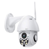 Outdoor PTZ WiFi Security Camera, Pan Tilt Zoom,Surveillance CCTV IP Weatherproof Camera with Two Way Audio Night Vision