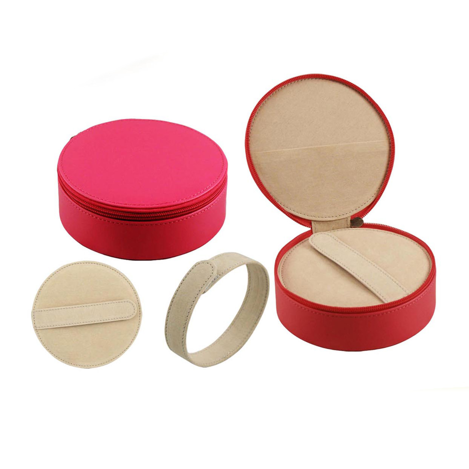jewelry case  Wholesale china custom luxury travel small round red cardboard/wooden/paper/velvet/leather jewellery box