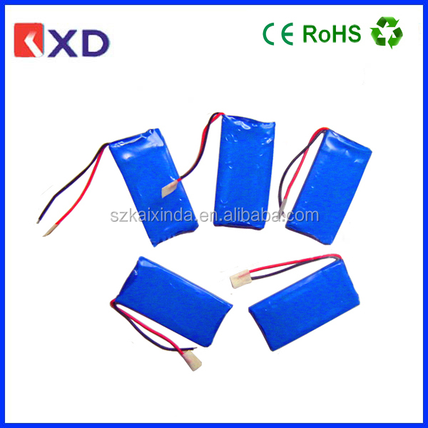 KXD rechargeable 3.7v 280mah lipo battery