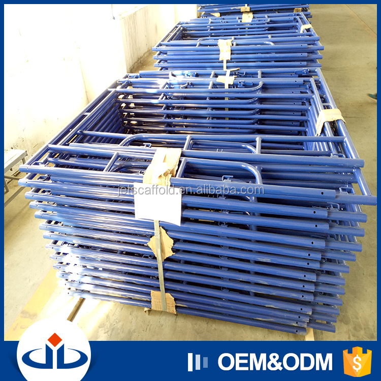 Easy Erection H Frame Scaffolding Plettac Chinese Scaffold For Building Construction Walk Through Scaffolding Frames