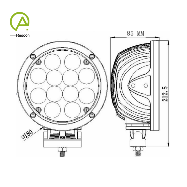 7 inch Round 60W 12V 24V DC Spot LED Work Light for Truck Trailer SUV Offroad Boat ATV etc