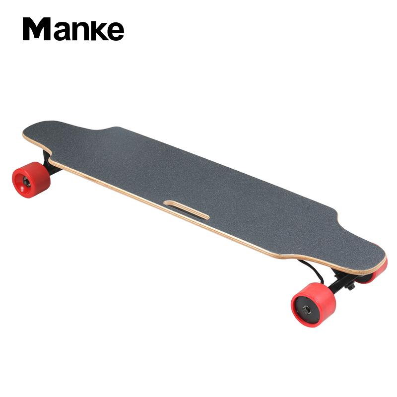 2018 Manke new arrival dual hub motor in-wheel electric longboard remote 4 wheel electric skateboard