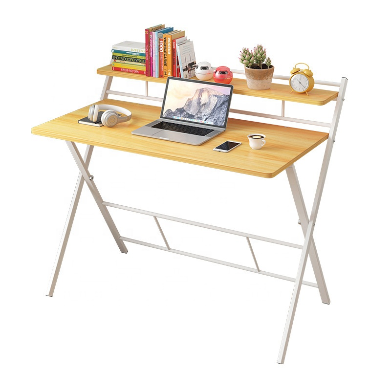 Modern Wooden Folding Computer Desk Home PC <strong>Laptop</strong> <strong>Table</strong> Study <strong>Table</strong> No Assembly Required