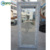 AWA Frost Glass PVC Front Plastic French Door And Frame With Blind