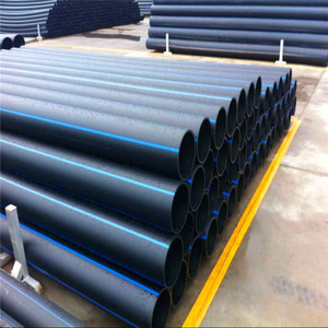 Large diameter Factory supply black plastic HDPE drainage pipe